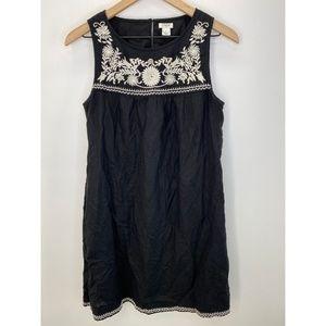 J. Crew Women's Sleeveless Midi Dress Black Size S